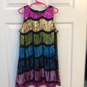 Multi sequin dress